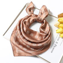 Scarf Shawls Hair-Scarves Foulard-Bandana Square Women Brand Designer Handkerchief Print