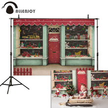 Allenjoy christmas shop backdrops for photography Toy gift baby party new year background photobooth photocall photophone allenjoy photography backdrops balloons animal candles greet photo background christmas vinyl backdrops for photography new year