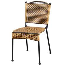 Woven Rattan Chair Plastic Children's Rattan Chair Single Backrest Chair Household Adult Dining Chair Outdoor Balcony Leisure Ch(China)