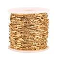 Золотая цепочка из нержавеющей стали, зажим для бусин, 2 метра, для самостоятельного изготовления аксессуаров