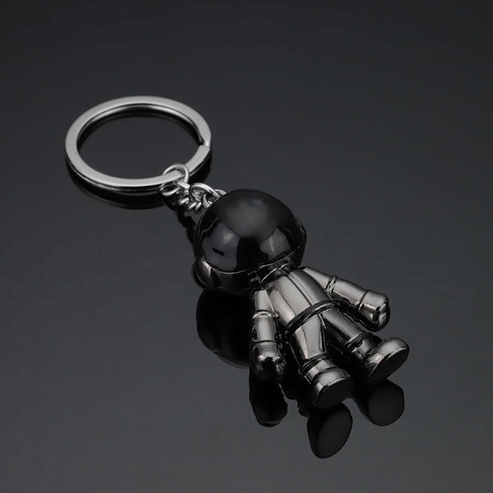 Homem Astronauta astronauta chaveiro de metal keychain da liga do zinco 3D casais namorado presentes chave do carro saco cadeia de acessórios de jóias