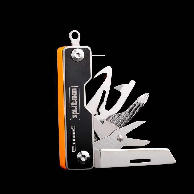 Mini çok cep bıçak açık Survival EDC katlanır bıçak araçları çok amaçlı 10 in 1 küçük bıçak makas çok fonksiyonlu bıçaklar