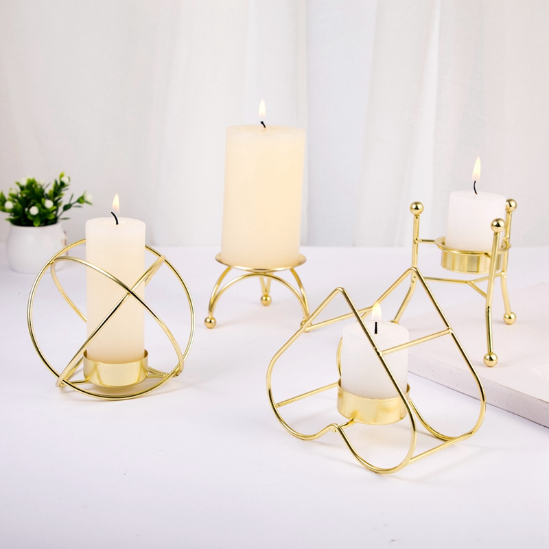 Geometric Candlestick Wall Art Candle Holder Nordic Style Sconce Home Decor N7