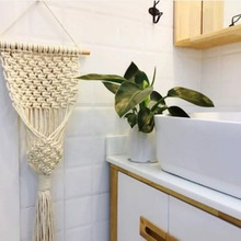Wall Art Cotton Rope Cord Woven Tapestry Home Decor For The Living Room Kitchen Bedroom Or Apartment