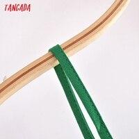 Tangada Women Green Mini Dress Strap Adjust Sleeveless 2021 Fashion Lady Dresses Vestido QN126 3