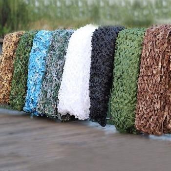 3X5M 3X8M 3X10M 4X6M Reinforced Camouflage Net Swimming Pool Beach Gazebo Garden Sun Shelter Camo Canvas Netting 10 Colors