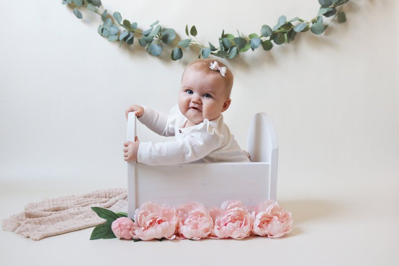 Newborn Photography Props Baby Cot Props Hundred Days Newborn Small Wooden Bed Full Moon Old Baby Photo Bed