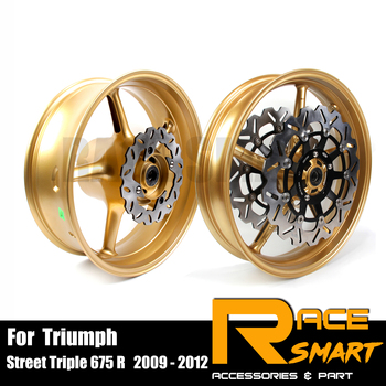 For Triumph Street Triple 675 R 2009 -  2012 Motorcycle Front Rear Wheel Rim Made From A356/AC4CH OEM Grade Aluminum Wheels Rims