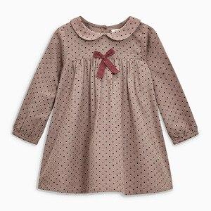 Little maven 2-7Years 2020 Autumn Wave Point Dresses For Girls Toddler Baby Girls Dress Children Kids Tops Dress Fall Clothing(China)