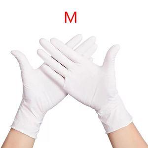 Image 4 - 100 sztuk wodoodporne jednorazowe mycie czyszczenie rękawice nitrylowe rękawice ochronne X6HB