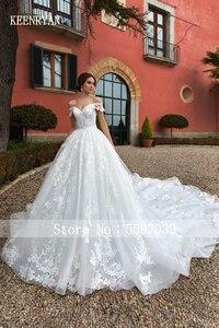 Image 5 - יוקרה תחרה חתונה שמלת 2020 מתוקה Robe דה Mariee Custom להפוך Chaple רכבת חתונת שמלות Vestido דה Novia