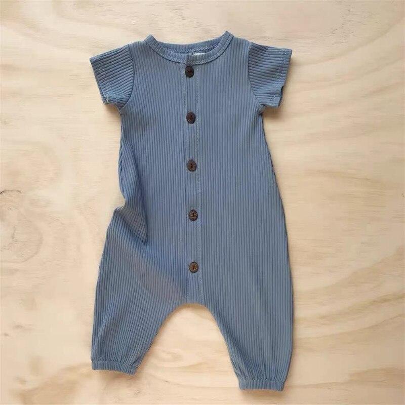 Рельефные летние комбинезоны для младенцев размером * ow, высококачественные модальные ребристые Комбинезоны для младенцев 6