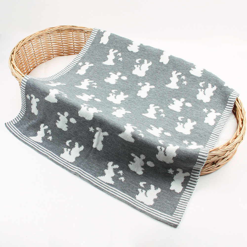 Knitted Baby Blanket Newborn Swaddle Wrap Blankets Super Soft 3D Bunny Rabbit kids Toddler Bebe Bed Stroller Throw