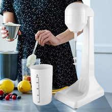 Przenośne jedzenie Blender automatyczne elektryczne spieniacz do mleka koktajl mleczny mikser Cappuccino kawy Latte mieszanie koktajl Blender ue wtyczka