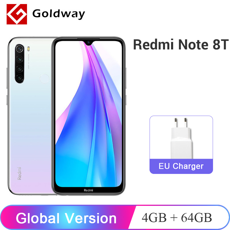 Global Version Xiaomi Redmi Note 8T 8 T 4GB 64GB NFC Cellphone 48MP Quad Rear Camera Snapdragon 665 Octa Core 4000mAh(Hong Kong,China)