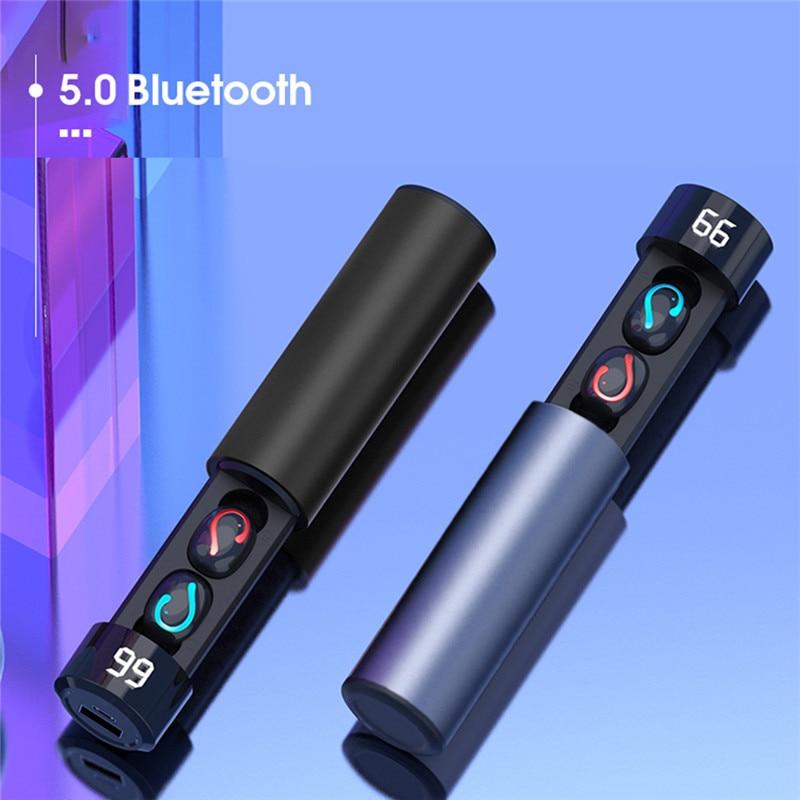 Bluetooth 5.0 Earphones TWS Wireless Headphones Blutooth Earphone Handsfree Sport Earbuds Gaming Headset With 1500mAh Power bank