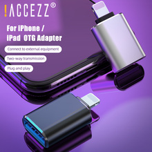 !ACCEZZ Aluminum Alloy Lighting Male to USB3.0 OTG Adapter For iPhone 11 Pro Max 6 7 8 Plus