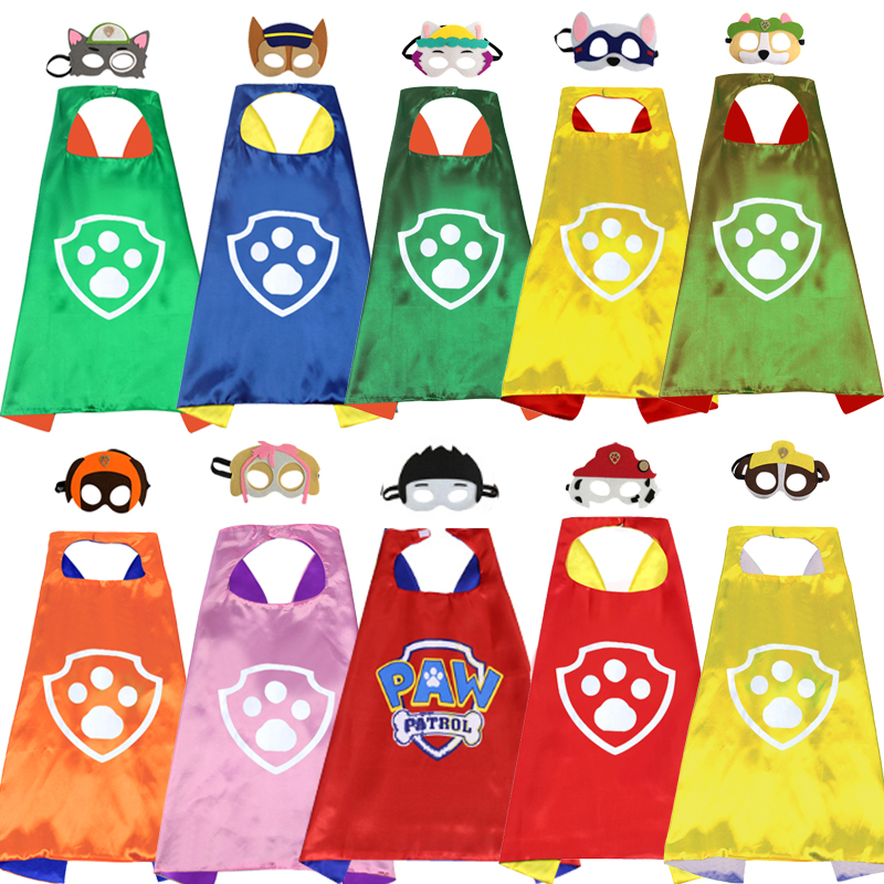 Paw Patrol Toys Set Mask Cape Cloak Cosplay Patrulha Canina Action Figure Birthday Christmas Halloween Party Decoration Kids Toy