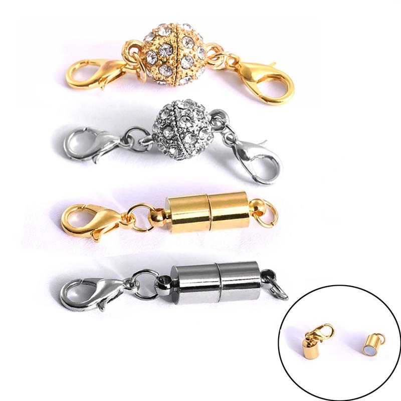 5Pcs Crystal Jewelry Clasps Magnetic Lobster Balls Findings DIY Accessories