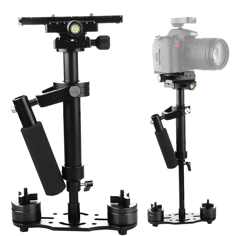 S40 40 CM/S60 60CM stabilisateur de poche pour Canon Nikon AEE DSLR caméra vidéo téléphone alliage d'aluminium pour iPhone