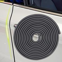 3m araba kapı kenar Trim kesim kalıplama U şeklinde kauçuk conta şerit Scratch koruyucu güvenlik siyah Anti çarpışma Dent Van parçası
