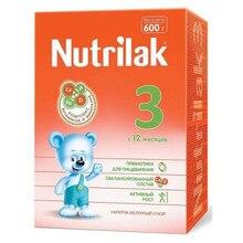 Напиток молочный сухой Nutrilak 3, с 12 мес., 600 г