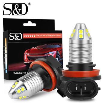 цена на 2Pcs H8 H11 LED Car Fog Lights Bulbs 9005 HB3 9006 HB4 Led Lamp Auto Day Driving Super Bright 2600LM 6000K White Blue Yello 12V