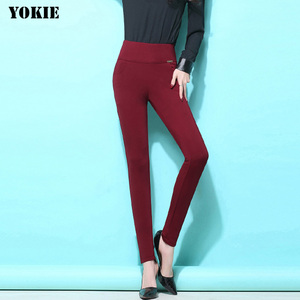 Image 4 - S 6XL winter warm 2018 high Elastic Waist Casual stretch Skinny Pencil Pants Women trousers Plus size Clothing Female Leggings