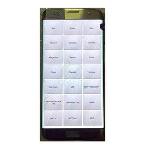 """Image 2 - Oryginalny 5.5 """"AMOLED do Samsung Galaxy S7 krawędzi lcd G935U G935F wyświetlacz Lcd ekran dotykowy digitalizacji z czarną kropką i linii"""