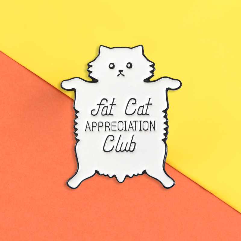 ✨Fat Cat Appreciation Club Enamel Pin ~ Animal Pin✨