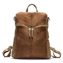 LOVEVOOK vintage women backpack nubuck leather PU school bac