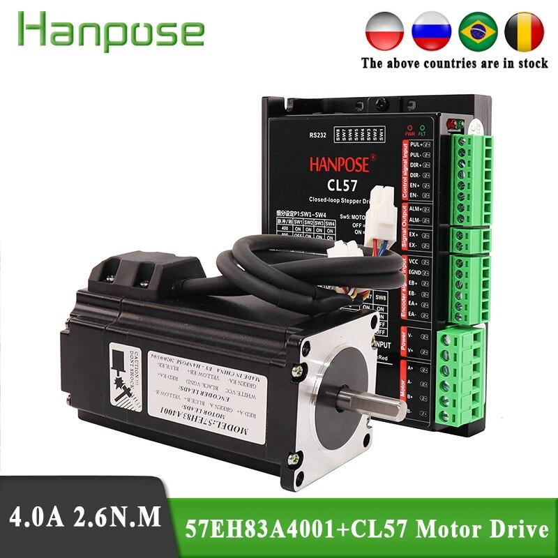 57eh83a4001 nema23 2.6n. m motor deslizante 57x83mm cl57 circuito fechado servo driver 57cme26 cnc controlador kit para impressora 3d