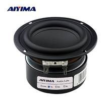 Aiyima 2 pçs 3 Polegada subwoofer alto-falante de áudio driver 4 8 ohm 25w portátil alto-falante estéreo de alta fidelidade woofer chifre