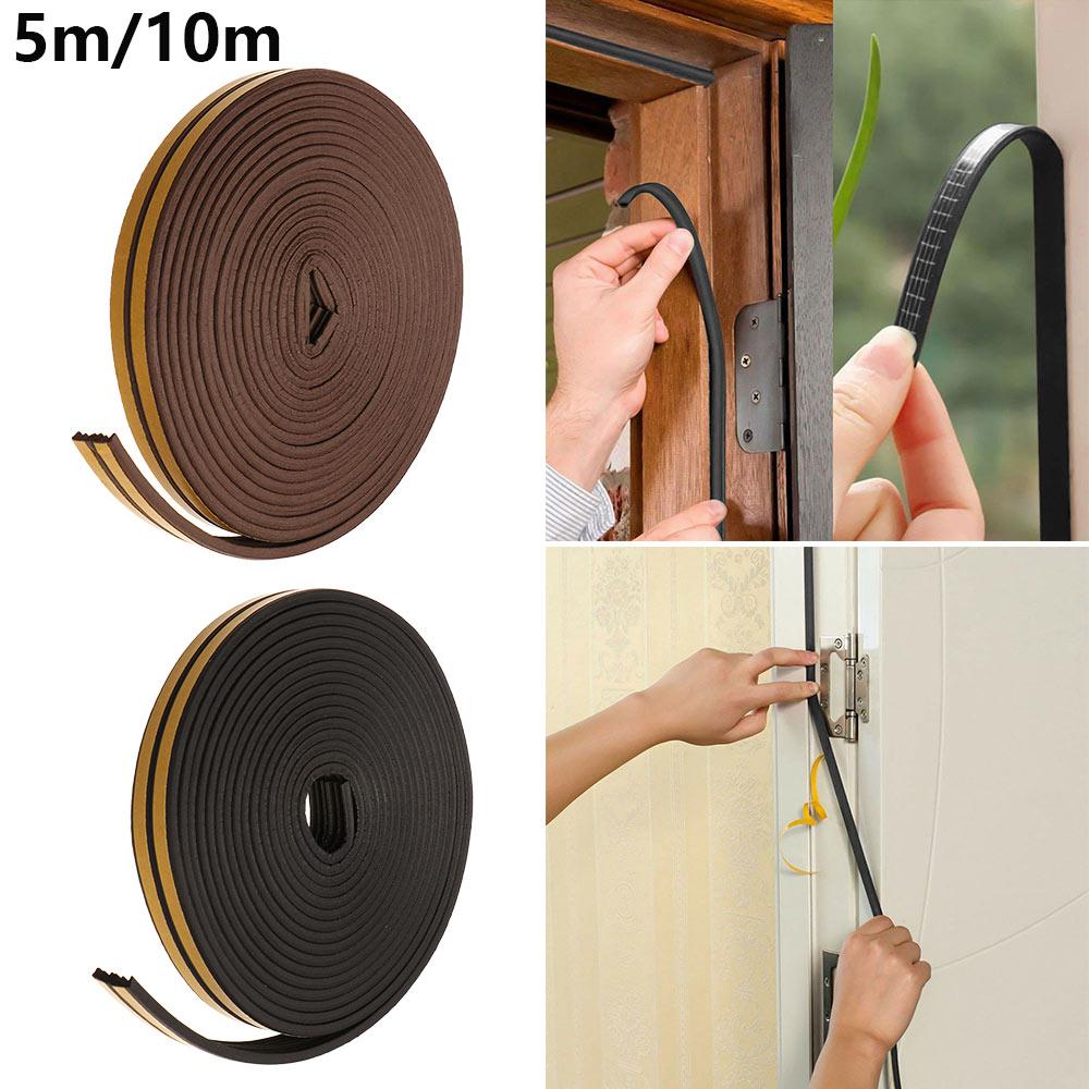 1 Pc 5/10M Self Adhesive Seal Strips Foam Draught Excluder Window Door Soundproof Anti Collision Dustproof Door Gap Seal Strips
