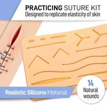 Полный набор швов для медицинских и ветеринарных студентов-многоразовая силиконовая прокладка для моделирования кожи
