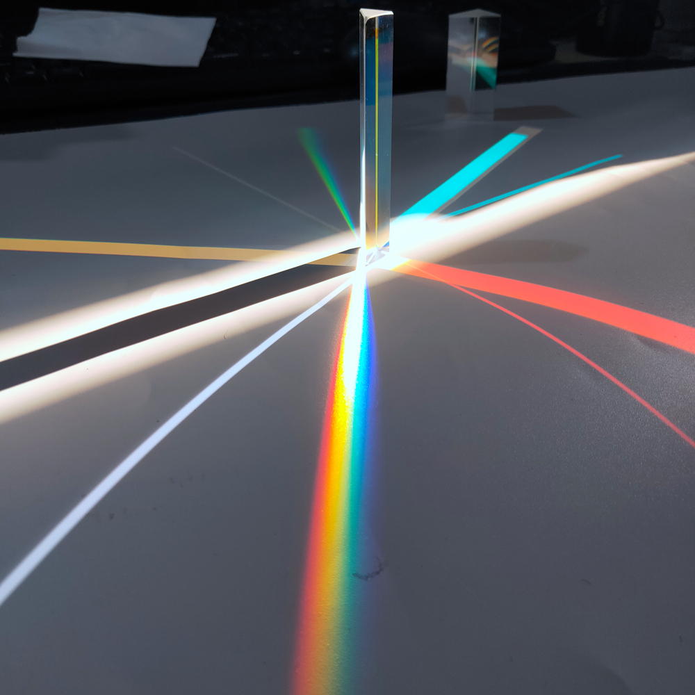 1 шт. Оптическое стекло прямоугольный отражающий треугольную призму для обучения светильник спектр Радужная Призма