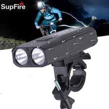 Supfire BL06-X LED Outdoor Sports Bicycle Lamp Riding Accessories Searchlight USB Rechargeable Flashlight Waterproof Torch