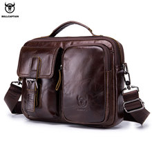 BULLCAPTAIN 2019 Genuine Leather Men Crossbody Bag Male Briefcase Messenger bag casual Business briefcase Style men Shoulder bag цена и фото
