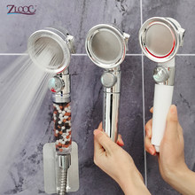 Zloog Bathtoom Multifunction Pressurized Shower Adjustable Jetting Shower Head High Pressure Mineral ball Filter Spa Shower Head