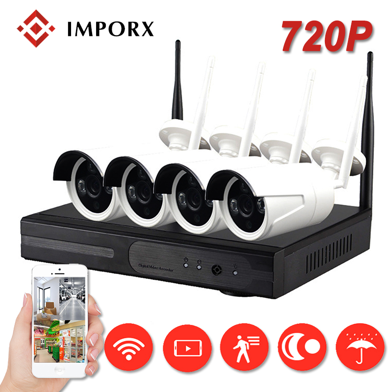 IMPORX 4CH Wireless CCTV Camera System NVR Wifi Camera Kit Video Surveillance Smart Home Security IP Camera Set Outdoor Indoor image