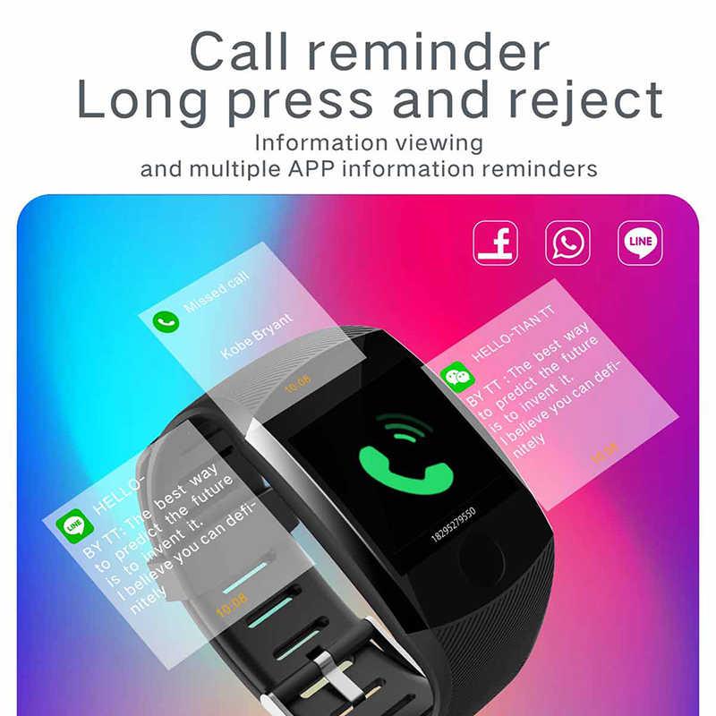 LIGE 2020 جديد ساعة ذكية الرجال مقاوم للماء ضغط الدم مراقب معدل ضربات القلب المقتفي الرياضة Smartwatch الذكية الفرقة الذكية + صندوق