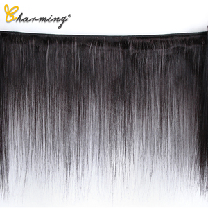 Image 2 - CHARMING Straight Bundles With Closure Brazilian Hair Weave Bundles With Closure Human Hair Bundles With Closure Hair Extension