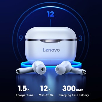 NEW Lenovo LP1 Wireless Earphone Bluetooth 5.0 Dual Stereo Noise Reduction HIFI Bass Touch Control Long Standby 300mAH Headset 2