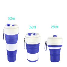 550ML creative silicone folding coffee cup outdoor portable gift