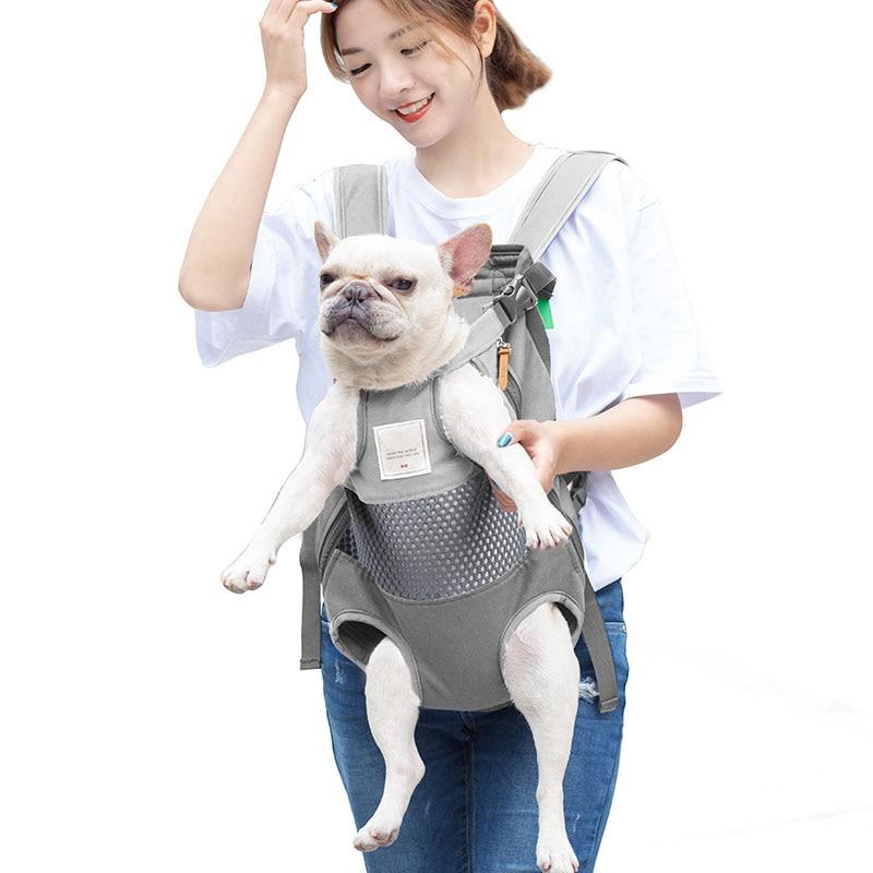 Рюкзак-переноска для домашних животных, сумка для путешествий с кошками и собаками спереди, для маленьких и средних собак, бульдог, щенков