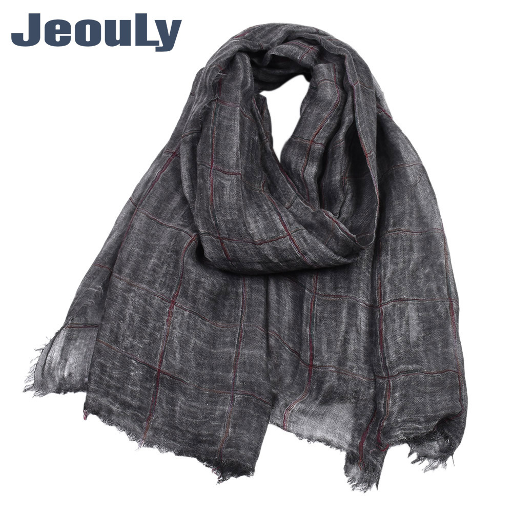 Export Plaid Men Casual Scarf Autumn And Winter Men's Stretch Twill Cotton Warm Yarn Dyed Scarf