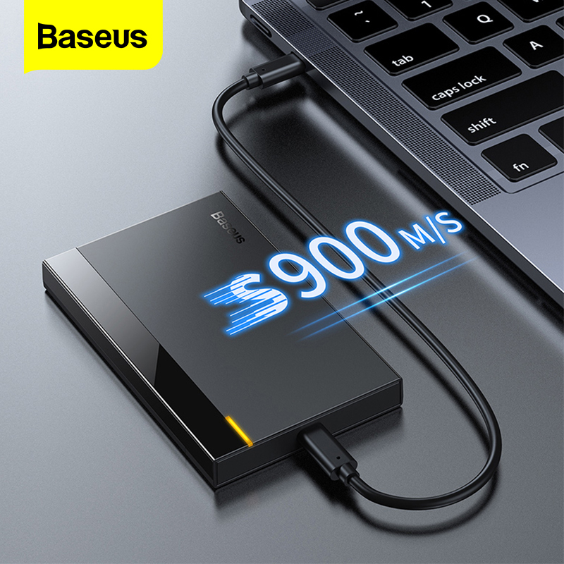 "Baseus HDD Case 2.5"" SATA To USB 3.0 Adapter Hard Drive Enclosure For SSD Disk HDD Box Type C 3.1 Case HD External HDD Enclosure"