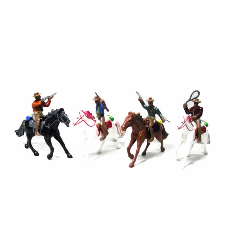 1:100 Western Cowboy Model Layout HO Scale People Figure Models Sand Table Toys