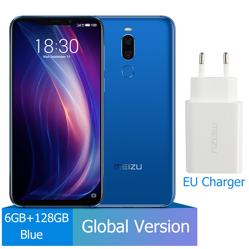 Meizu X8, 4 ГБ, 64 ГБ, глобальная версия, Смартфон Snapdragon 710, четыре ядра, мобильный телефон, фронтальная камера 20 МП, отпечаток пальца - Цвет: 6G 128G Blue