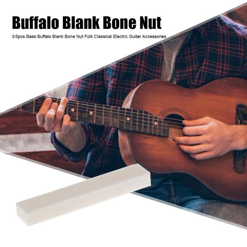 1/3/5pcs Guitar Bass Buffalo Blank Bone Nut For Classical Electric Guitar